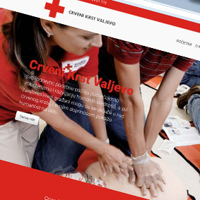 Red Cross Valjevo - Re-design