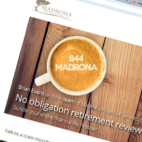 Madrona landing page