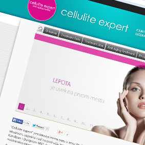 Celulite Expert website redesign