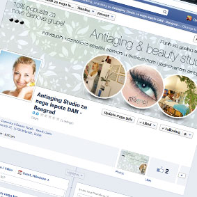 FB app for Antiaging studio DAN
